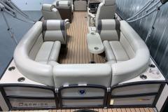 U-Shape Seating on the 2017 Premier 250 Solaris RF Pontoon Boat