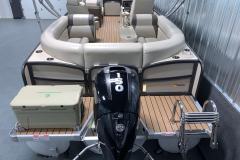 Mercury 150HP Four-Stroke Motor on the 2017 Premier 250 Solaris RF Pontoon Boat