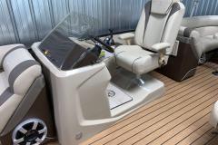 Raised Helm of the 2017 Premier 250 Solaris RF Pontoon Boat