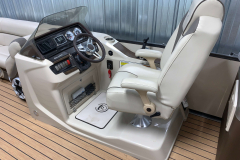 Helm of the 2017 Premier 250 Solaris RF Pontoon Boat
