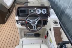 Garmin Display on the 2017 Premier 250 Solaris RF Pontoon Boat