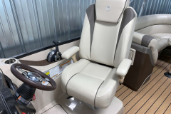 High Back Captain's Chair of the 2017 Premier 250 Solaris RF Pontoon Boat