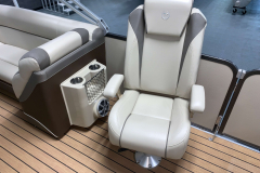 Co-Captain's Chairs of the 2017 Premier 250 Solaris RF Pontoon Boat