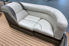 Pop-Up Changing Room Lounge of the 2017 Premier 250 Solaris RF Pontoon Boat