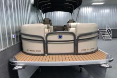 Bow Swim Deck of the 2017 Premier 250 Solaris RF Pontoon Boat