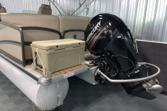 Aft Swim Deck of the 2017 Premier 250 Solaris RF Pontoon Boat