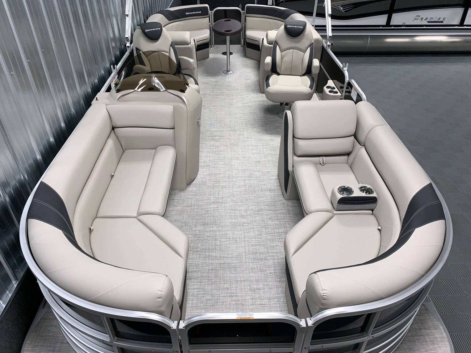 Interior Layout of the 2021 Berkshire 24RFX LE Pontoon Boat