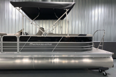Two-Tone Panel Design of the 2021 Berkshire 24RFX LE Pontoon Boat