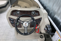 LE Series Helm of the 2021 Berkshire 24RFX LE Pontoon Boat