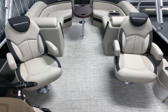(2) Midship Captains Chairs of the 2021 Berkshire 24RFX LE Pontoon Boat