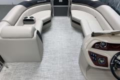 Woven Vinyl Flooring of the 2021 Berkshire 24RFX LE Pontoon Boat
