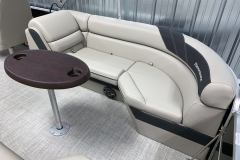 Removable Snack Table of the 2021 Berkshire 24RFX LE Pontoon Boat