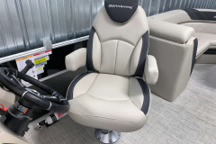 High Back Captains Chair of the 2021 Berkshire 24RFX LE Pontoon Boat