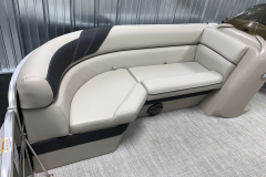 Black Accented Interior of the 2021 Berkshire 24RFX LE Pontoon Boat