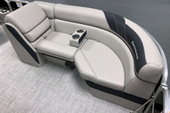 Interior Seating of the 2021 Berkshire 24RFX LE Pontoon Boat