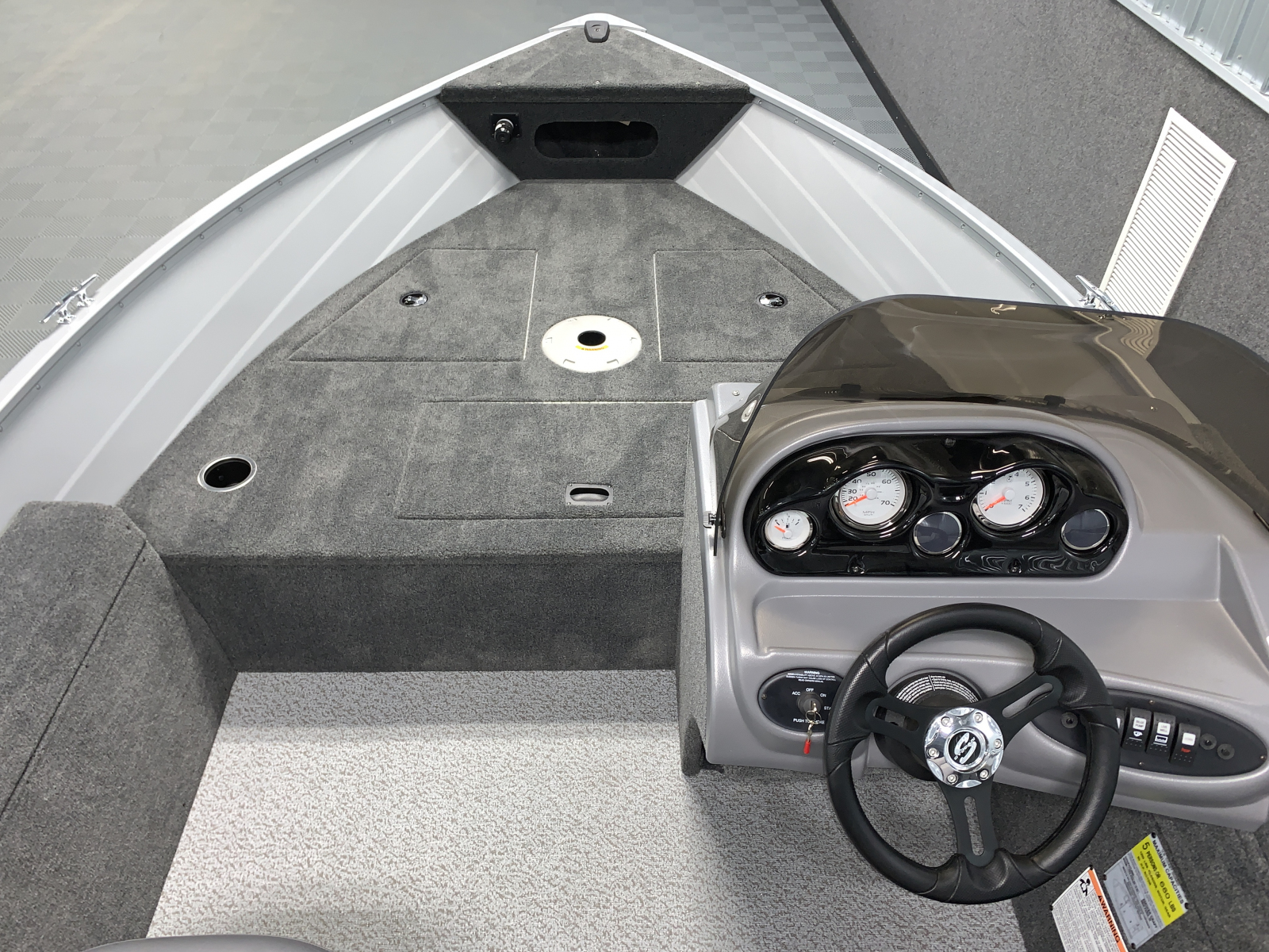 Bow Casting Deck of the 2022 Smoker Craft 161 Pro Angler Fishing Boat
