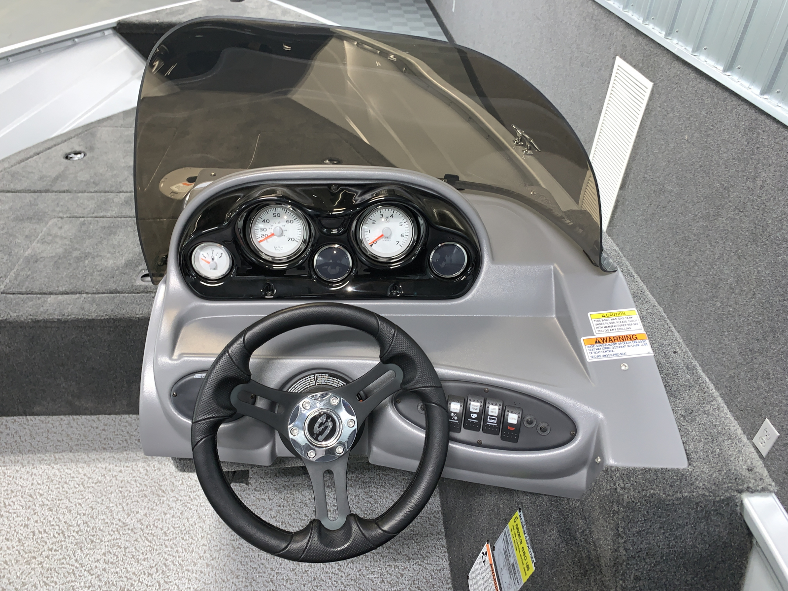 Helm of the 2022 Smoker Craft 161 Pro Angler Fishing Boat