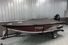 Trailerable Dowco Cover on the 2022 Smoker Craft 161 Pro Angler Fishing Boat