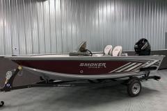 Single Axle Shoreland'r Trailer of the 2022 Smoker Craft 161 Pro Angler Fishing Boat