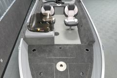 Cockpit Vinyl Flooring of the 2022 Smoker Craft 161 Pro Angler Fishing Boat