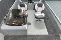 Interior Cockpit Layout of the 2022 Smoker Craft 161 Pro Angler Fishing Boat