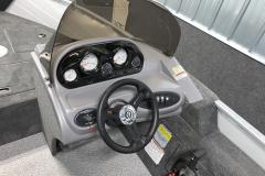 Pro Angler Helm of the 2022 Smoker Craft 161 Pro Angler Fishing Boat
