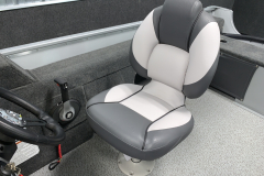 Deluxe Captains Chair of the 2022 Smoker Craft 161 Pro Angler Fishing Boat