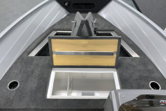 Bow Livewell and Storage of the 2022 Smoker Craft 161 Pro Angler Fishing Boat