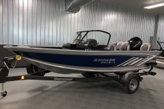Blue Exterior of a 2021 Smoker Craft 172 Explorer Fish And Ski Boat