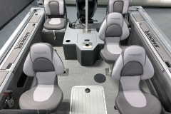 Seating Configuration of a 2021 Smoker Craft 172 Explorer Fish And Ski Boat