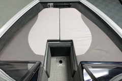 Bow Cushions of a 2021 Smoker Craft 172 Explorer Fish And Ski Boat