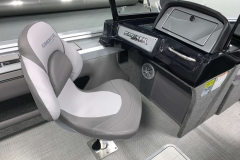 Co-Captain's Chair of a 2021 Smoker Craft 172 Explorer Fish And Ski Boat