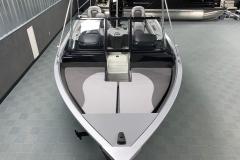 Interior Bow Layout of a 2021 Smoker Craft 172 Explorer Fish And Ski Boat