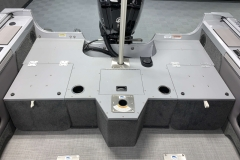 Rear Casting Deck of a 2021 Smoker Craft 172 Explorer Fish And Ski Boat