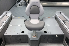 Rear Fishing Chair of a 2021 Smoker Craft 172 Explorer Fish And Ski Boat