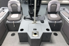 Rear Jump Seats of a 2021 Smoker Craft 172 Explorer Fish And Ski Boat