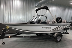 Folded Fisherman's Top of a 2021 Smoker Craft 172 Explorer Fish And Ski Boat