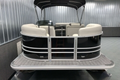 Black Exterior of a 2022 Sylvan Mirage 820 Cruise Pontoon