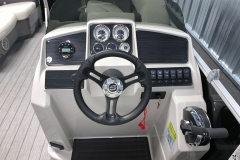 Drivers Console of a 2022 Sylvan Mirage 820 Cruise Pontoon