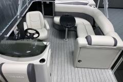 Interior Layout of a 2022 Sylvan Mirage 820 Cruise Pontoon