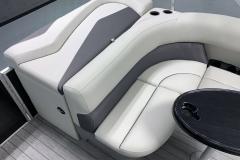 Interior Seating of a 2022 Sylvan Mirage 820 Cruise Pontoon