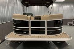 Black Exterior of a 2021 Sylvan Mirage 820 Cruise Pontoon 2