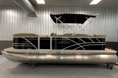 Black Exterior of a 2021 Sylvan Mirage 820 Cruise Pontoon 3