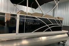 Black Exterior of a 2021 Sylvan Mirage 820 Cruise Pontoon 5