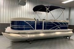 Blue Exterior of a 2021 Sylvan Mirage 820 Cruise Pontoon 1
