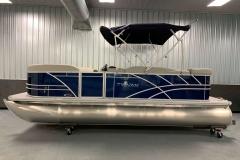 Blue Exterior of a 2021 Sylvan Mirage 820 Cruise Pontoon 4