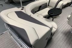 Gray Interior Seating of a 2021 Sylvan Mirage 820 Cruise Pontoon 2