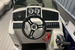 Drivers Console of a 2021 Sylvan Mirage 820 Cruise Pontoon