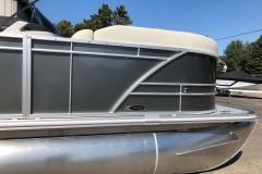 Carbon Exterior of a 2021 Sylvan Mirage 820 Cruise Pontoon 4