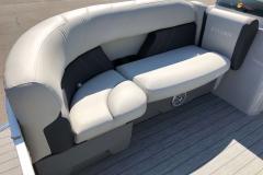 Gray Interior Seating of a 2021 Sylvan Mirage 820 Cruise Pontoon 3